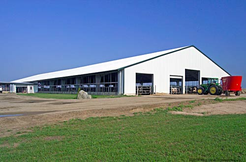 Metal Dairy Barn Facility
